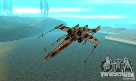 X-WING v1 из Star Wars для GTA San Andreas вид справа