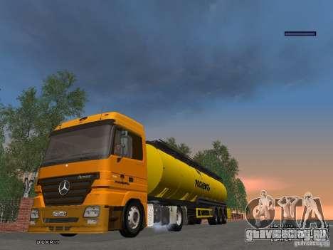 Прицеп к Mercedes-Benz Actros РосНефть для GTA San Andreas вид сзади