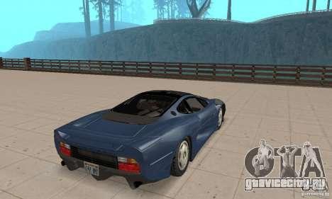 Jaguar XJ220 для GTA San Andreas вид слева