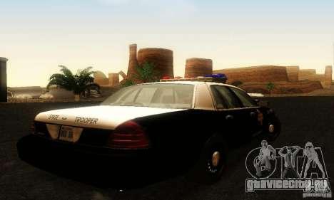 Ford Crown Victoria Texas Police для GTA San Andreas вид слева