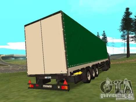 НефАЗ 93344 Зеленый для GTA San Andreas вид сзади слева
