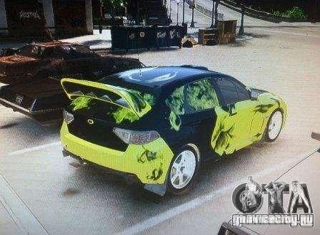 Subaru Impreza WRX для GTA 4 вид слева