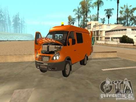 ГАЗель 2705 дорожный патруль для GTA San Andreas вид сзади