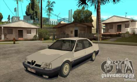 Alfa Romeo 164 для GTA San Andreas вид изнутри