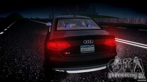 Audi S4 Unmarked [ELS] для GTA 4 салон
