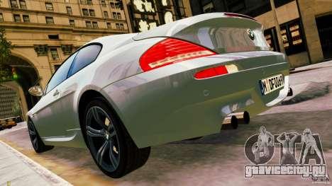 BMW M6 2010 для GTA 4 вид слева
