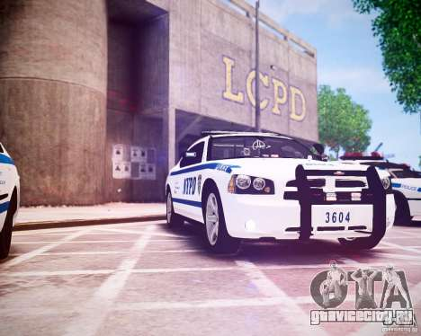 Dodge Charger 2010 NYPD ELS для GTA 4 вид изнутри