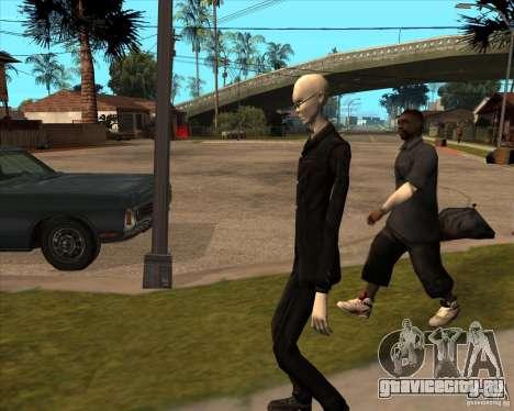 Слендер в темных очках для GTA San Andreas седьмой скриншот