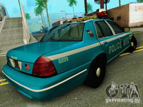 Ford Crown Victoria 2003 NYPD Blue для GTA San Andreas вид справа