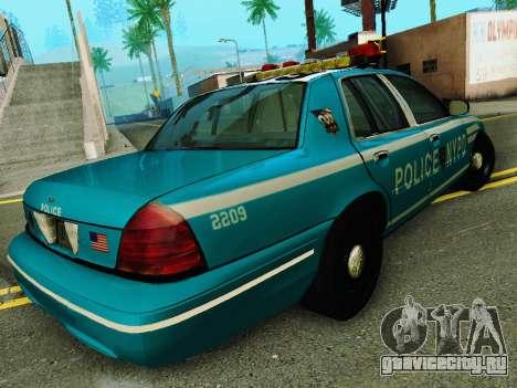 Ford Crown Victoria 2003 NYPD Blue для GTA San Andreas вид справа