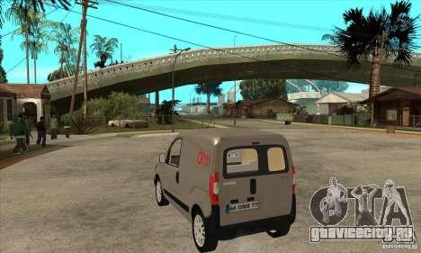 Citroen Nemo 2010 для GTA San Andreas вид сзади слева