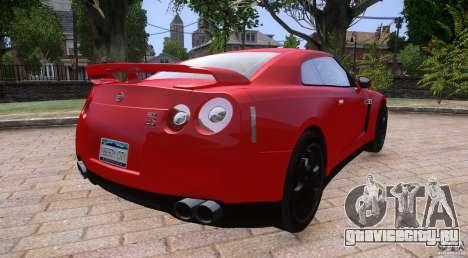 Nissan GTR R35 v1.0 для GTA 4 вид слева