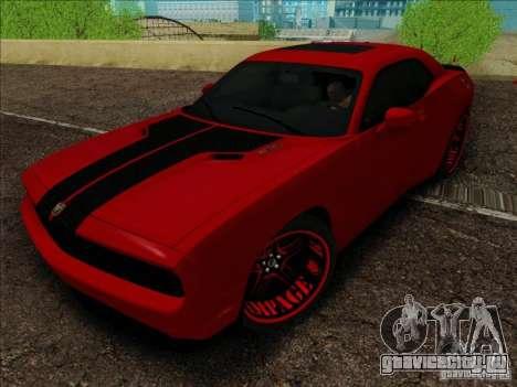 Dodge Quinton Rampage Jackson Challenger SRT8 v1 для GTA San Andreas вид справа
