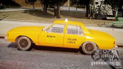 Chevrolet Impala Taxi v2.0 для GTA 4 вид сзади слева