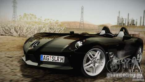 Mercedes-Benz SLR Stirling Moss 2005 для GTA San Andreas вид сбоку