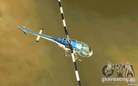Bell 206 B Police texture1 для GTA San Andreas вид изнутри