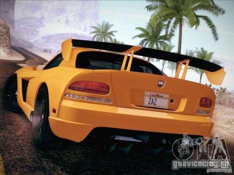 Dodge Viper SRT-10 ACR для GTA San Andreas вид слева