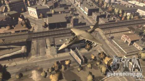 Liberty City Air Force Jet (с шосси) для GTA 4 вид справа