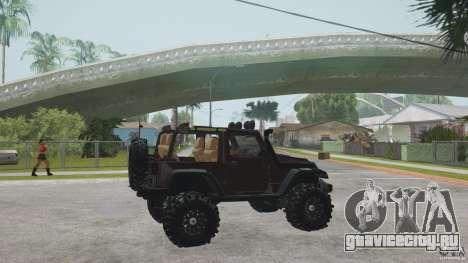 Jeep Wrangler Off road v2 для GTA San Andreas вид слева