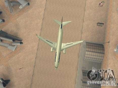 Boeing 737-800 Lufthansa для GTA San Andreas вид сбоку