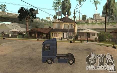 MAN TGX V8 для GTA San Andreas вид слева