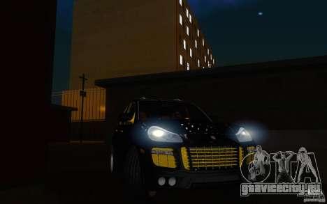 Porsche Cayenne gold для GTA San Andreas вид сзади