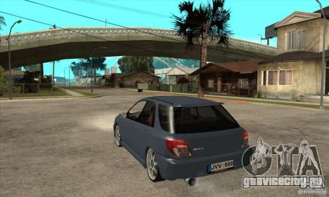 Subaru Impreza Universal для GTA San Andreas вид сзади слева