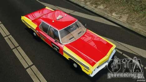 Dodge Monaco 1974 Taxi v1.0 для GTA 4 салон