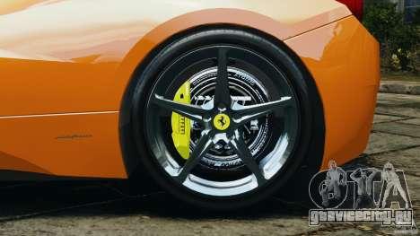 Ferrari 458 Italia 2010 v3.0 для GTA 4 вид изнутри