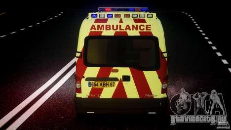 Renault Master 2007 Ambulance Scottish [ELS] для GTA 4 двигатель