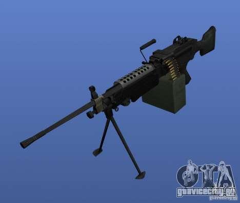 Пулемёт M249SAW для GTA 4