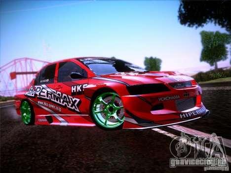 Mitsubishi Lancer Evolution 9 Hypermax для GTA San Andreas вид сбоку