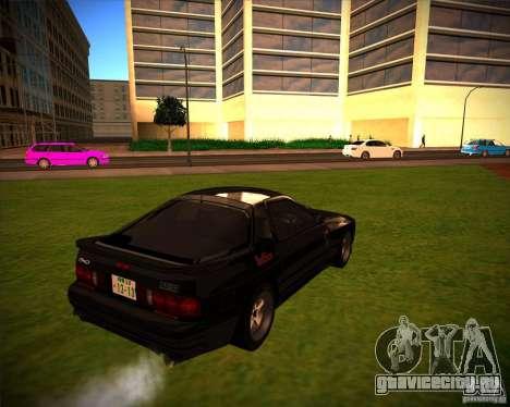 Mazda RX-7 FC3S для GTA San Andreas вид сзади слева