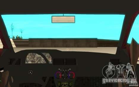 Mercedes-Benz 190 E (W201) 1984 version 1.0 для GTA San Andreas вид сзади