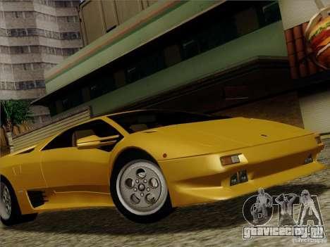 Lamborghini Diablo VT 1995 V3.0 для GTA San Andreas вид сверху
