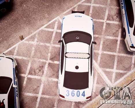 Dodge Charger 2010 NYPD ELS для GTA 4 вид сверху