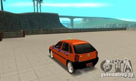 Volkswagen Gol G4 Taxi для GTA San Andreas вид сзади слева