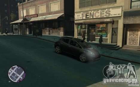 Nissan Leaf 2011 для GTA 4 вид справа