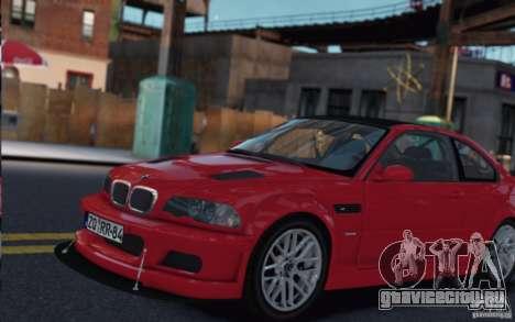 BMW M3 Street Version e46 для GTA 4 вид слева