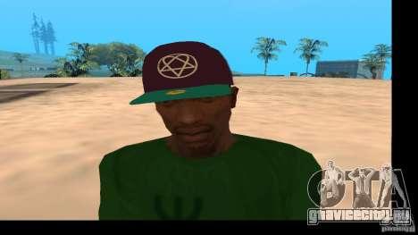 Кепка с логотипом группы HIM для GTA San Andreas третий скриншот