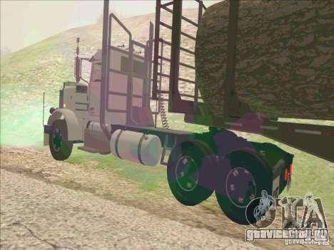 Peterbilt 379 для GTA San Andreas вид сзади слева