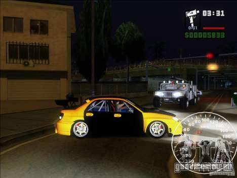 Subaru Impreza WRX Sti 2006 Elemental Attack для GTA San Andreas вид слева