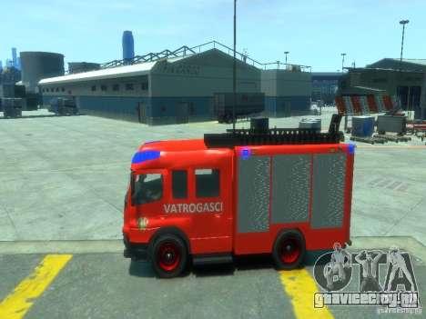Mercedes-Benz Atego Fire Departament для GTA 4 вид слева