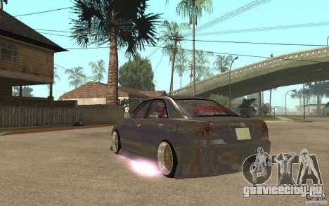 Toyota JZX110 Chaser V.I.P. Drifter для GTA San Andreas вид сзади слева