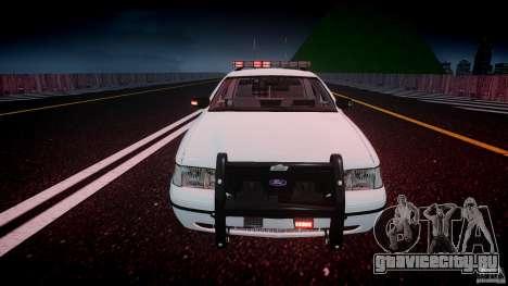 Ford Crown Victoria v2 NYPD [ELS] для GTA 4 вид сверху