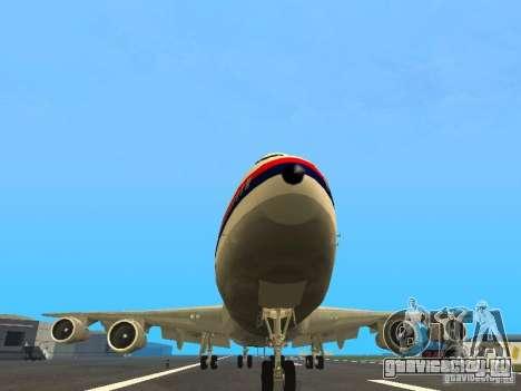 Boeing 747-100 Japan Airlines для GTA San Andreas вид сзади