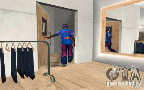 Red Bull Clothes v2.0 для GTA San Andreas третий скриншот