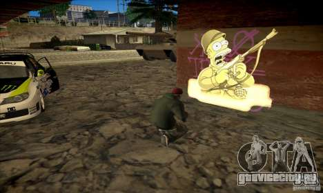 Simpson Graffiti Pack v2 для GTA San Andreas
