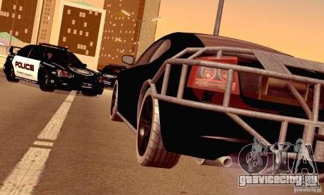 Dodge Charger Fast Five для GTA San Andreas вид сбоку
