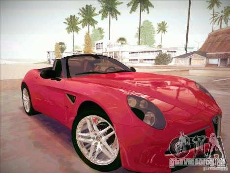 Alfa Romeo 8C Spider для GTA San Andreas вид справа